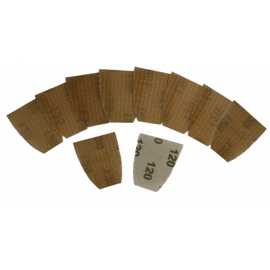 Schuurpads voor Het Onderdeurtje 120 grit (10 stuks)