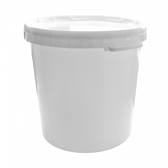 Round Plastic Bucket with Lid