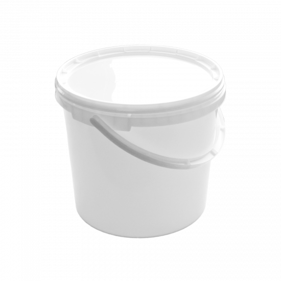 Round Plastic Bucket with Lid and Handle