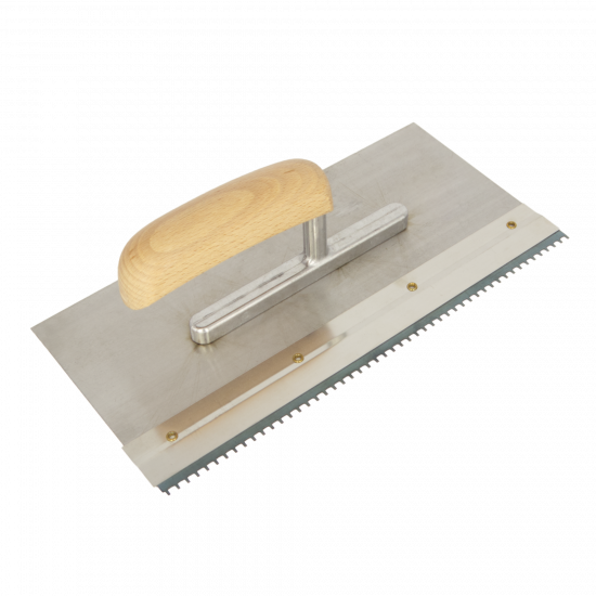 Floor trowel S/S with slot for notched blades