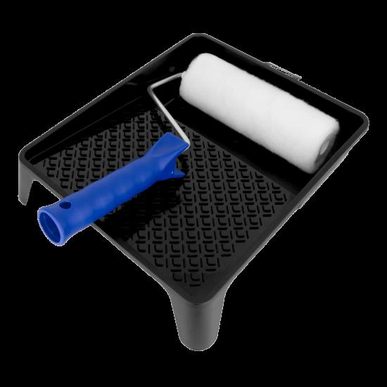 Paint Set: paint tray / Junior paintroller vestan white