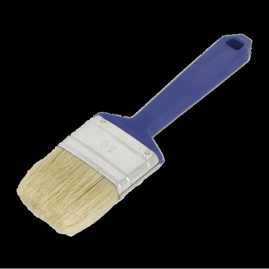 Flat brush, white bristle