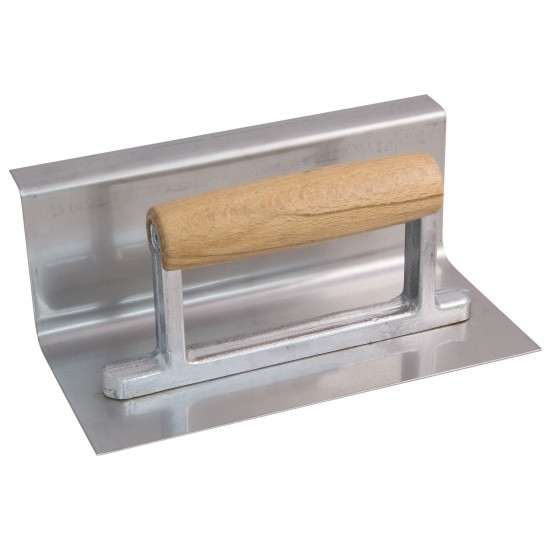 Concave tapered  trowel S/S with 30 mm radius and top edge board