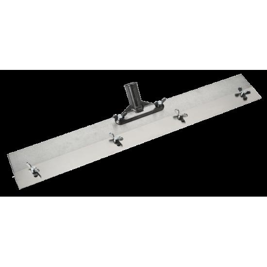 Aluminium vloer spatel met 6 glijpennen