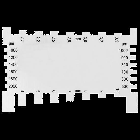 Diktemeter aluminium 0.5 -10 mm