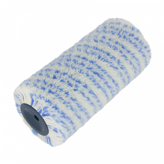 Polystripe roller blue stripe Ø 44mm, 18 cm