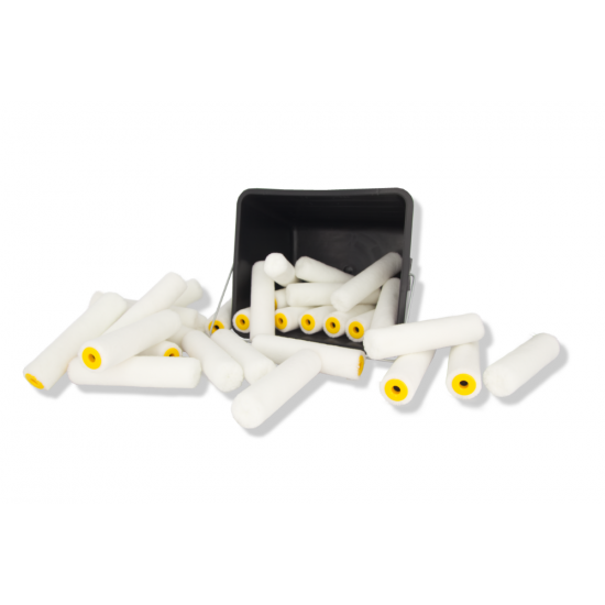 Paintset - 2,5 liter paintbucket with 30 Xellent mini roller 11 cm