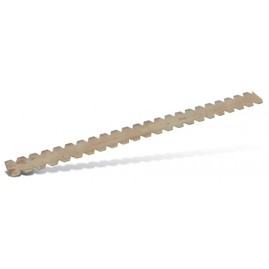 Notched blade 0,5 mm hardened steel